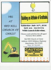 Red Hill VBS 2016