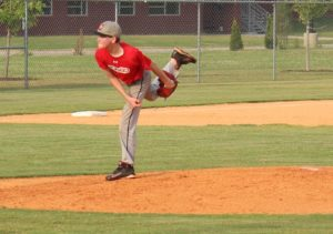 Braden Brown delivers a pitch on Friday in a scrimmage with Harris
