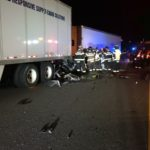 Crash scene photo of fatal accident in Coffee County on I-24... Photo provided.