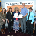Tullahoma Finance Department L to R: Paige Jackson, Whitney White, Donna Graham, Director Susan Wilson, Mayor Lane Curlee, Christopher Ratliff and Debi Graham.