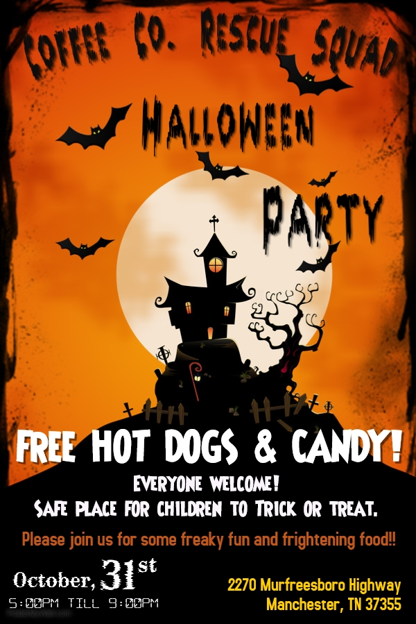 coffee county rescue squad halloween party