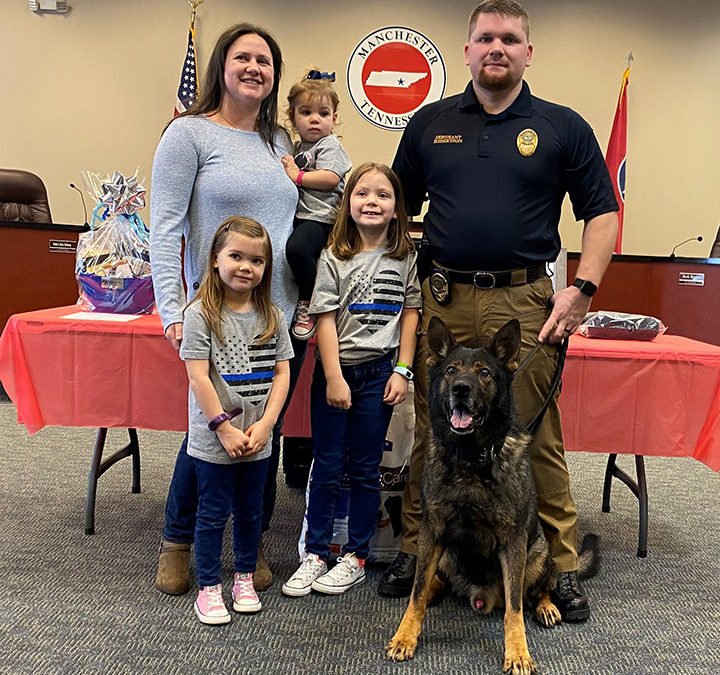 Manchester Police Department hosts retirement ceremony for canine officer