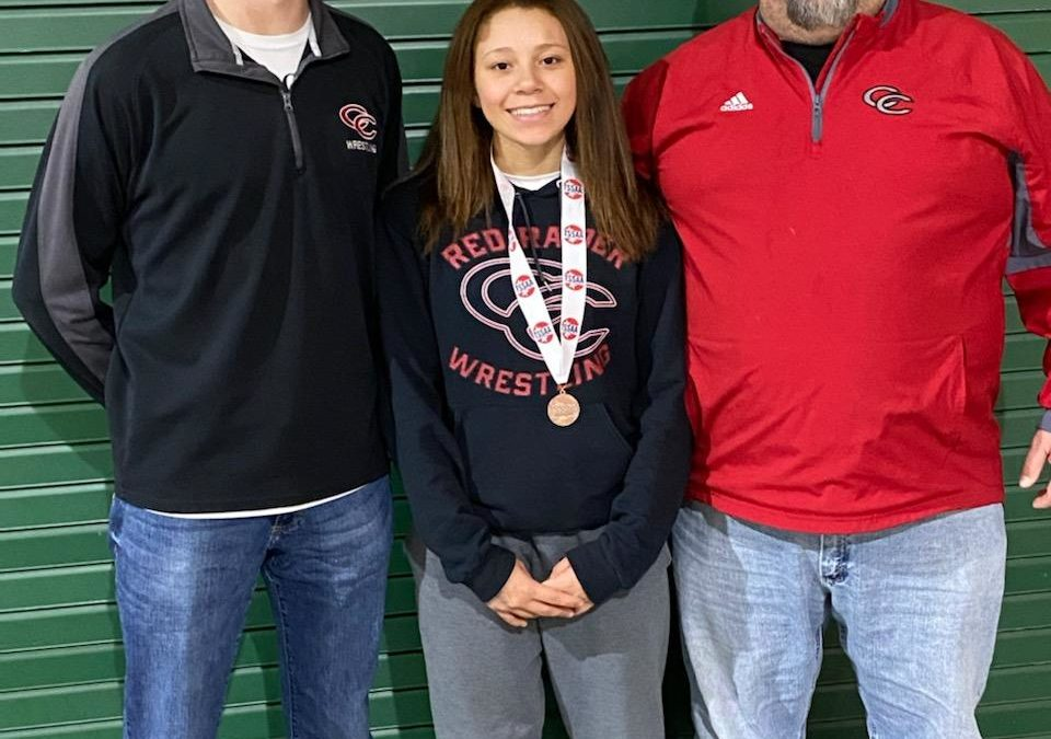 Alanna Coker Medals at TSSAA State Wrestling Tournament