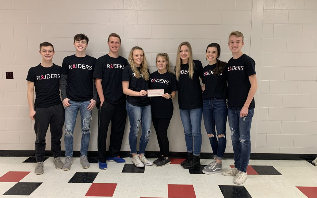 Coffee Co FBLA makes large donation to breast cancer coalition