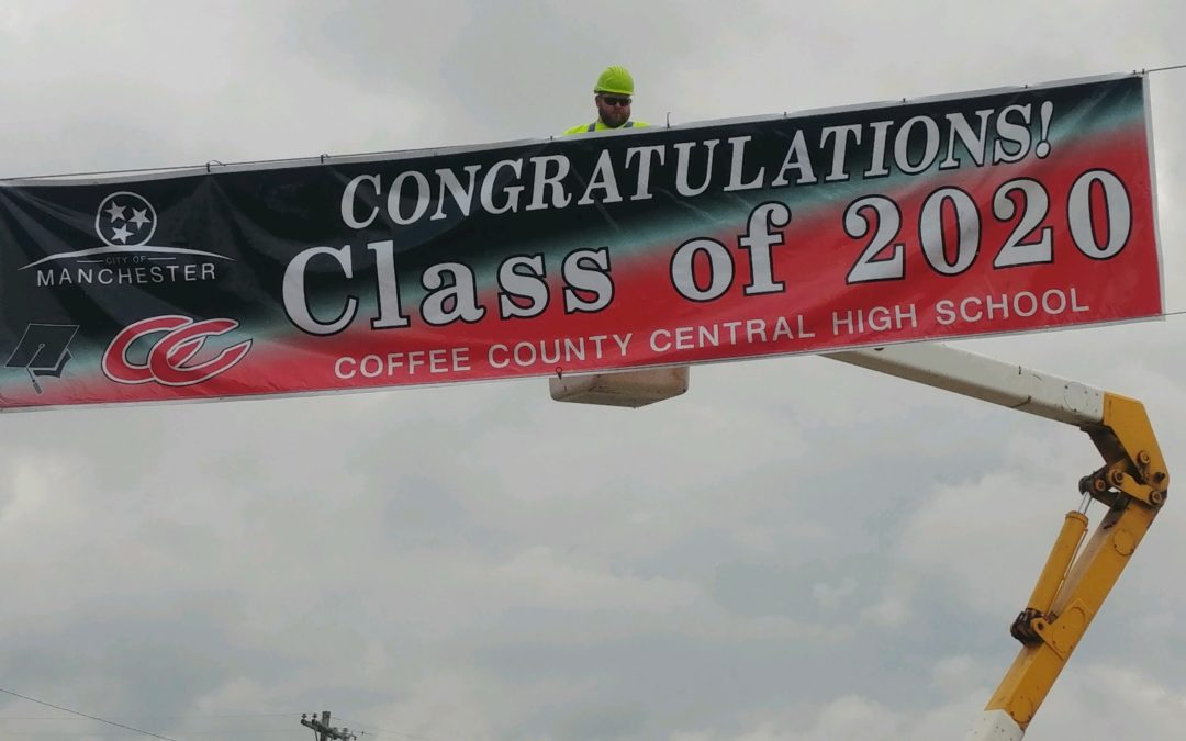City puts out banners to congratulate CHS Class of 2020; parade is Friday