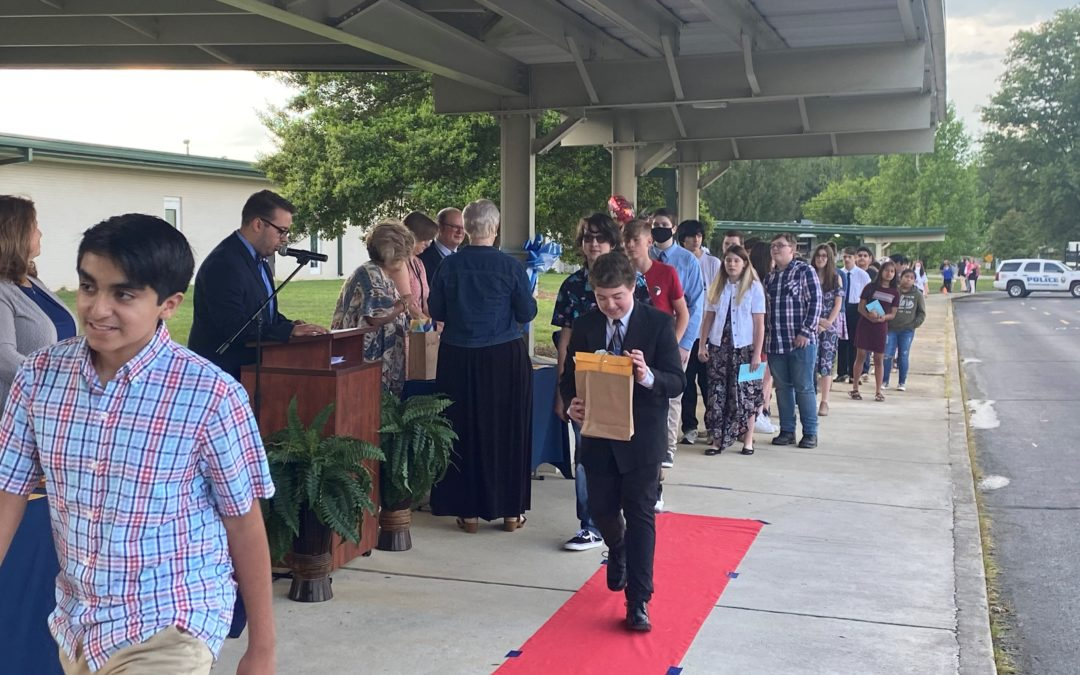 Westwood Middle holds 8th grade awards night