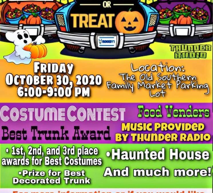 Area citizens, businesses organize trunk-or-treat event after safe on square cancellation