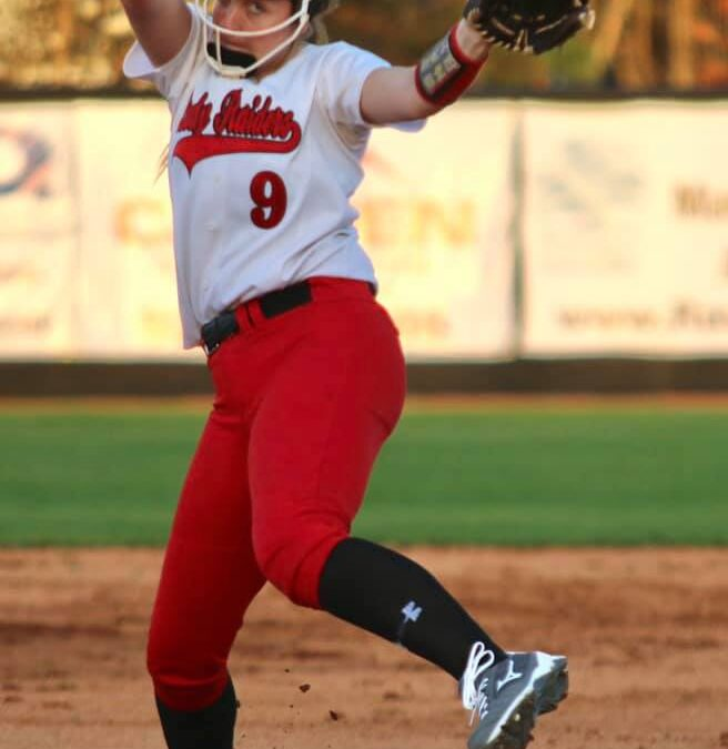 Munn tosses perfect game as Lady Raiders open District tournament with win