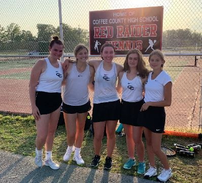 Lady Raider tennis advances to team finals in district play